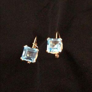 Jewelry - 14k Gold Aquamarine stone earrings